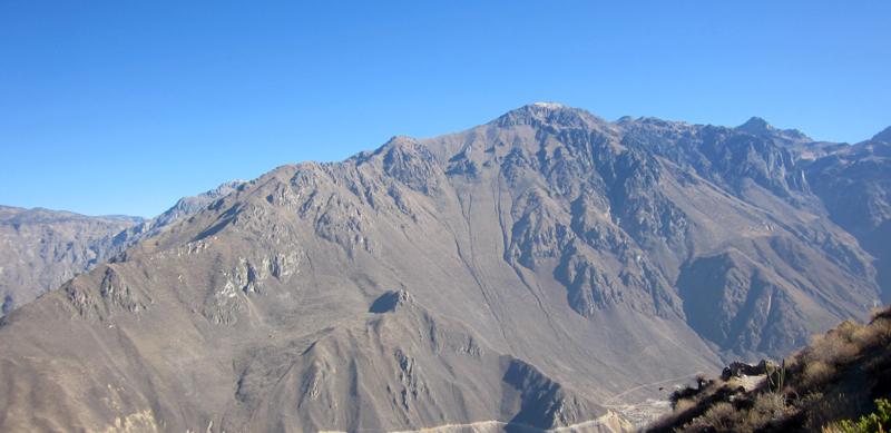 Esta es solo una pequeña parte del Cañón del Colca