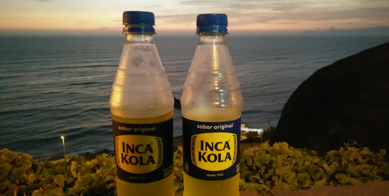 Drinking Inca Kola in Perú