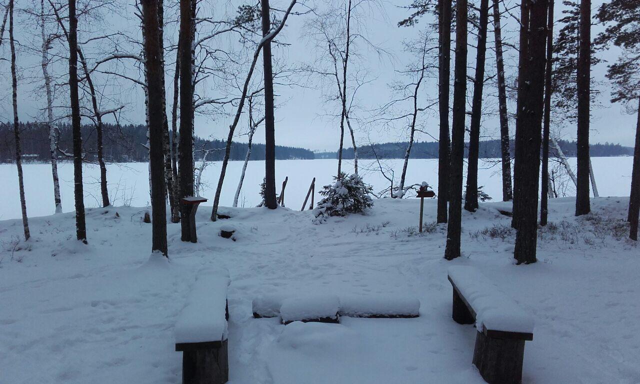 Cabaña en el lago Kuolimo