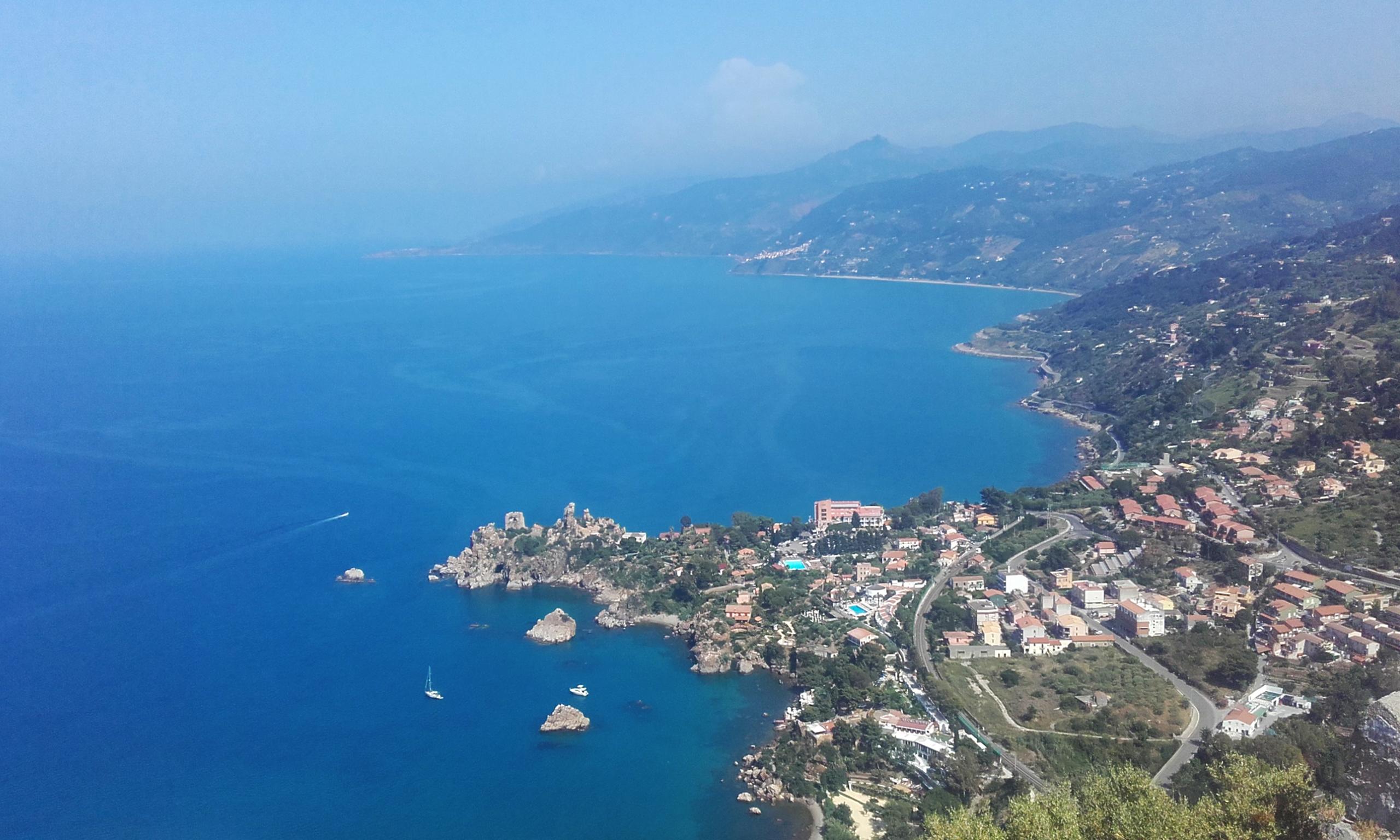 Vistas hacia el estrecho de Messina