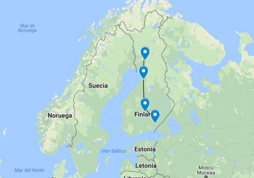 Mapa Laponia 2