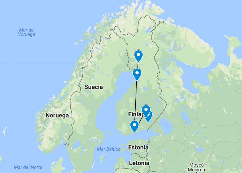 Mapa Laponia 1