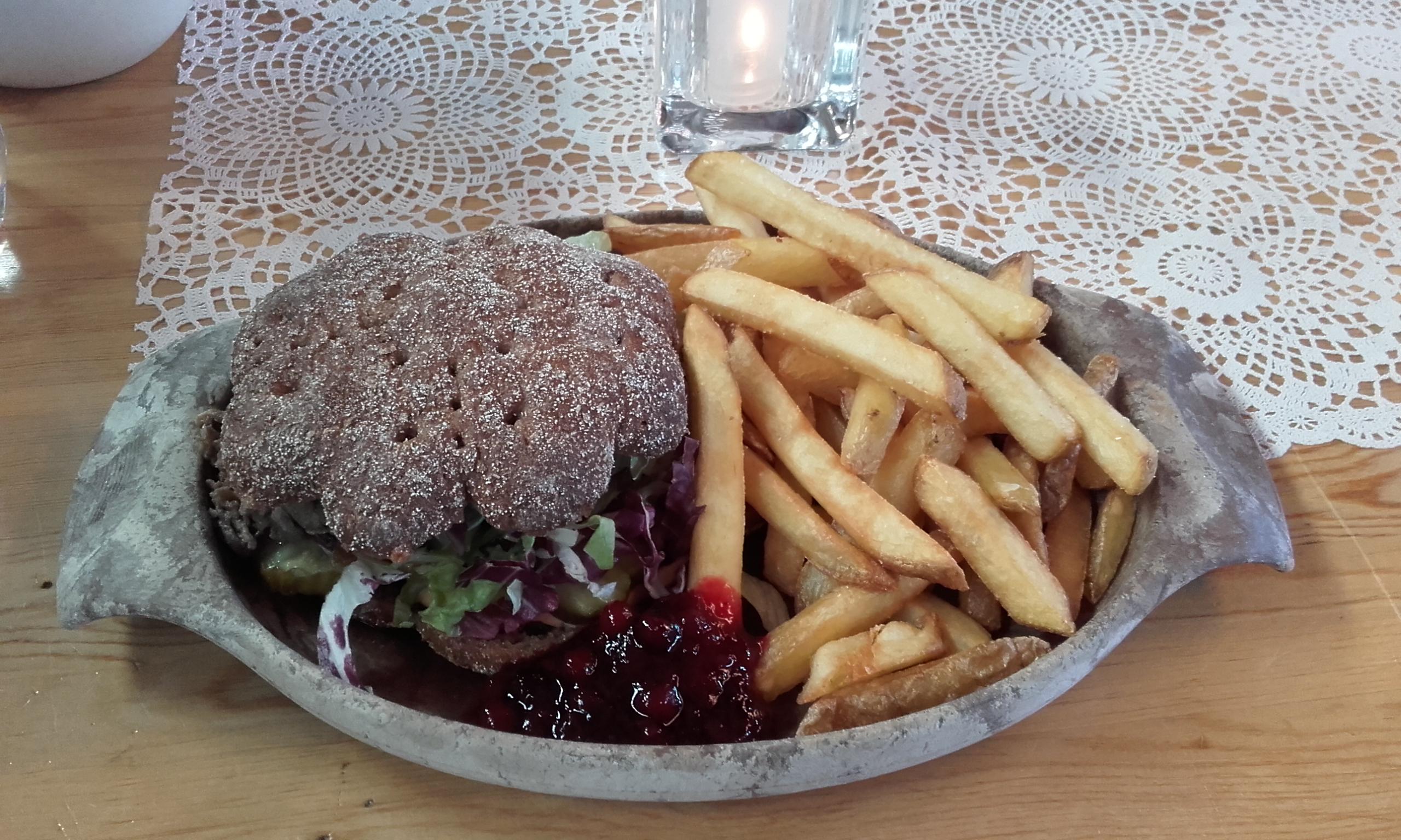 Hamburguesa de carne de reno
