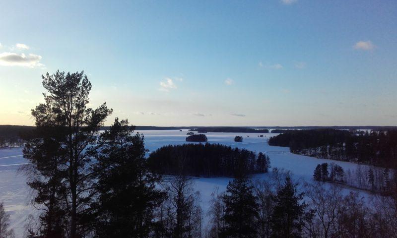 Lago Kuolimo desde la torre de Savitaipale