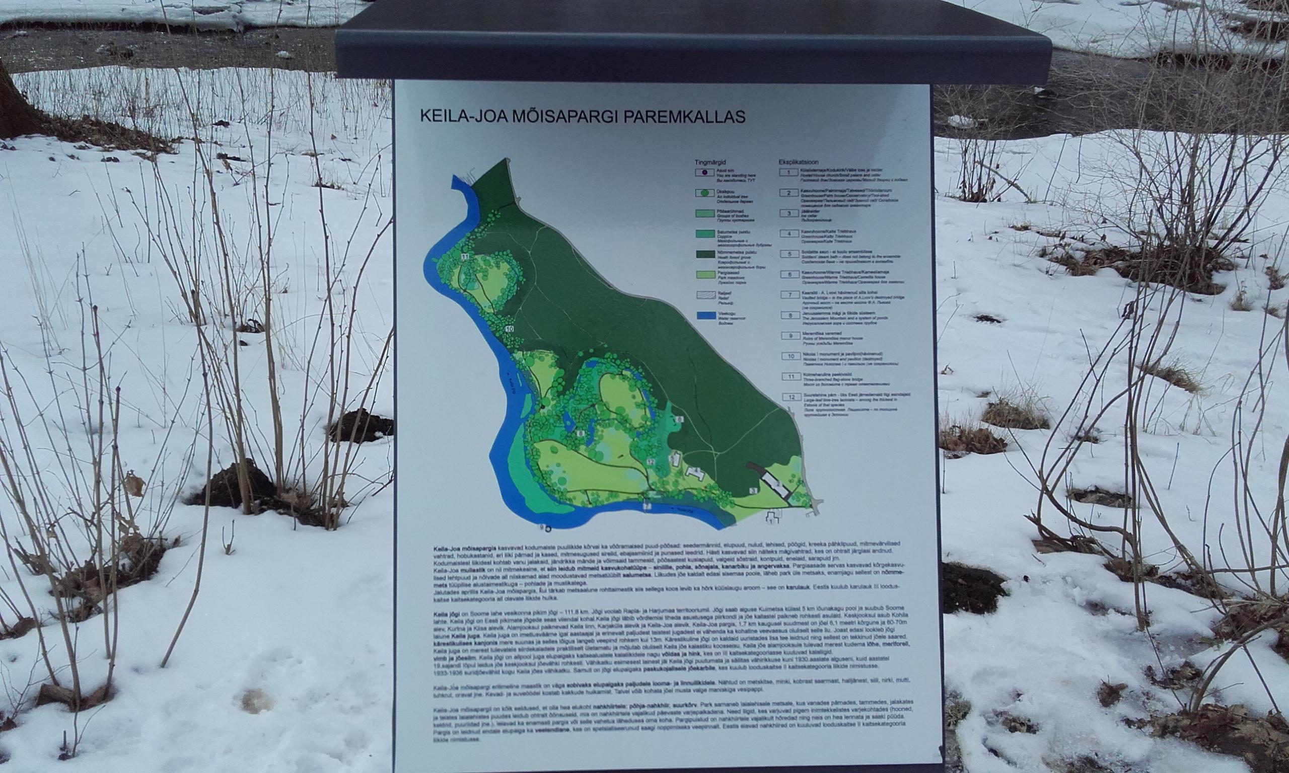 Mapa del parque de Keila-Joa