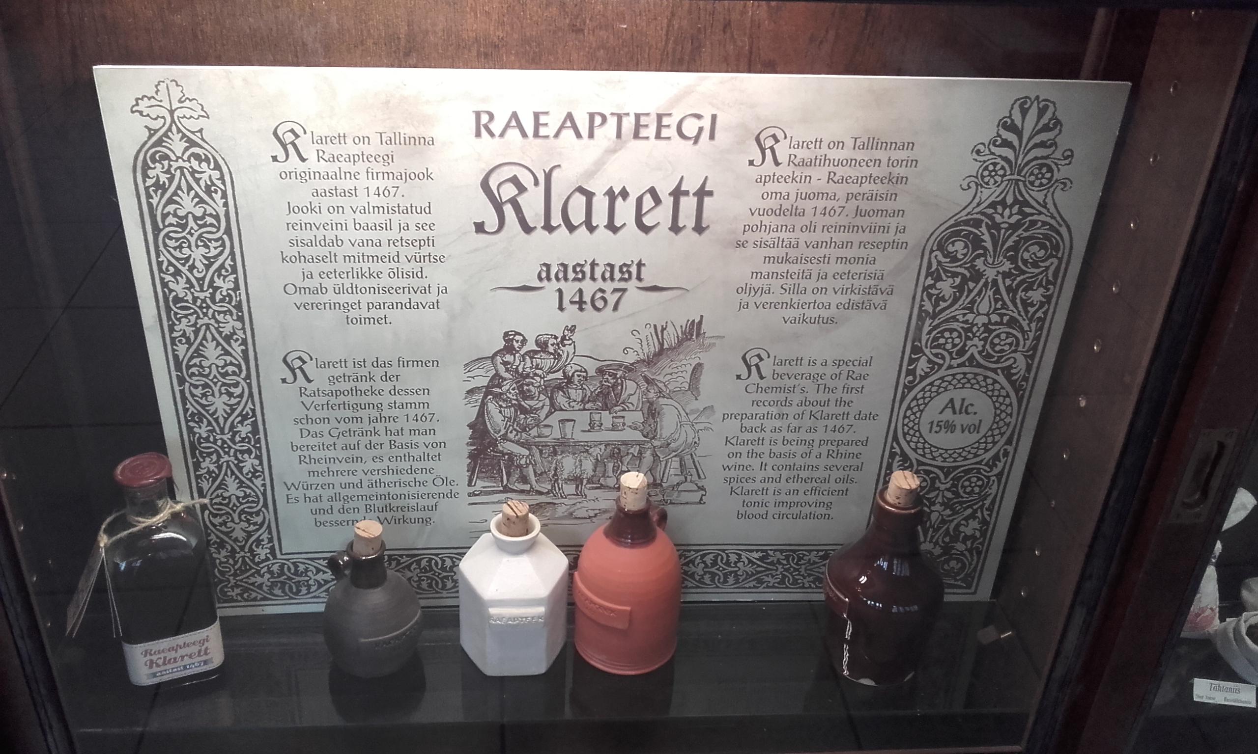 El Clarete, uno de los productos estrella de la Raeapteek