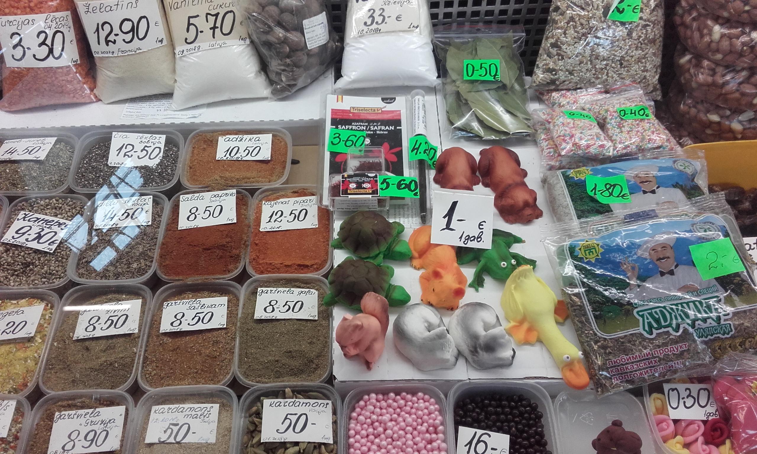 Delicias del mercado de Riga