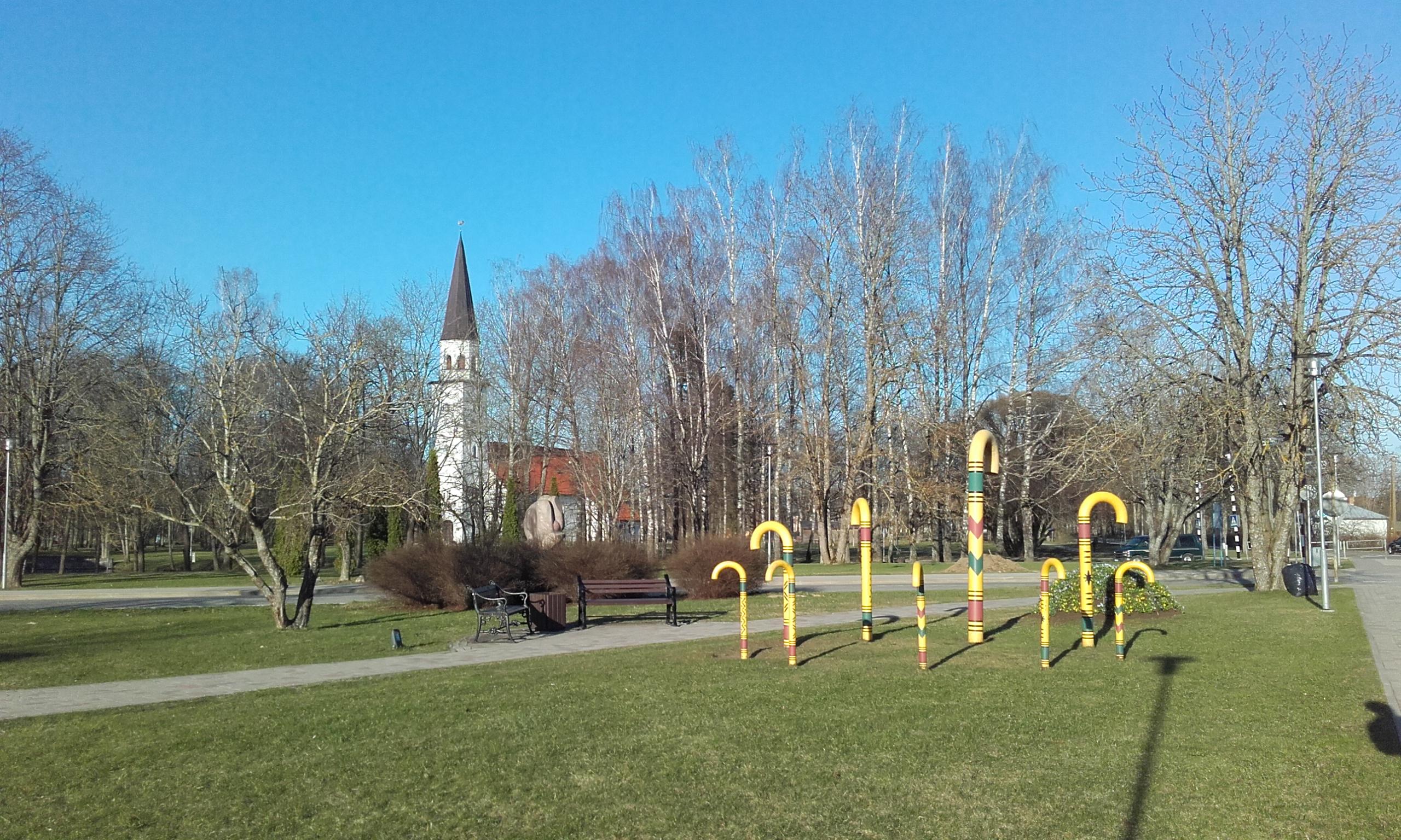 Parque de esculturas en Sigulda