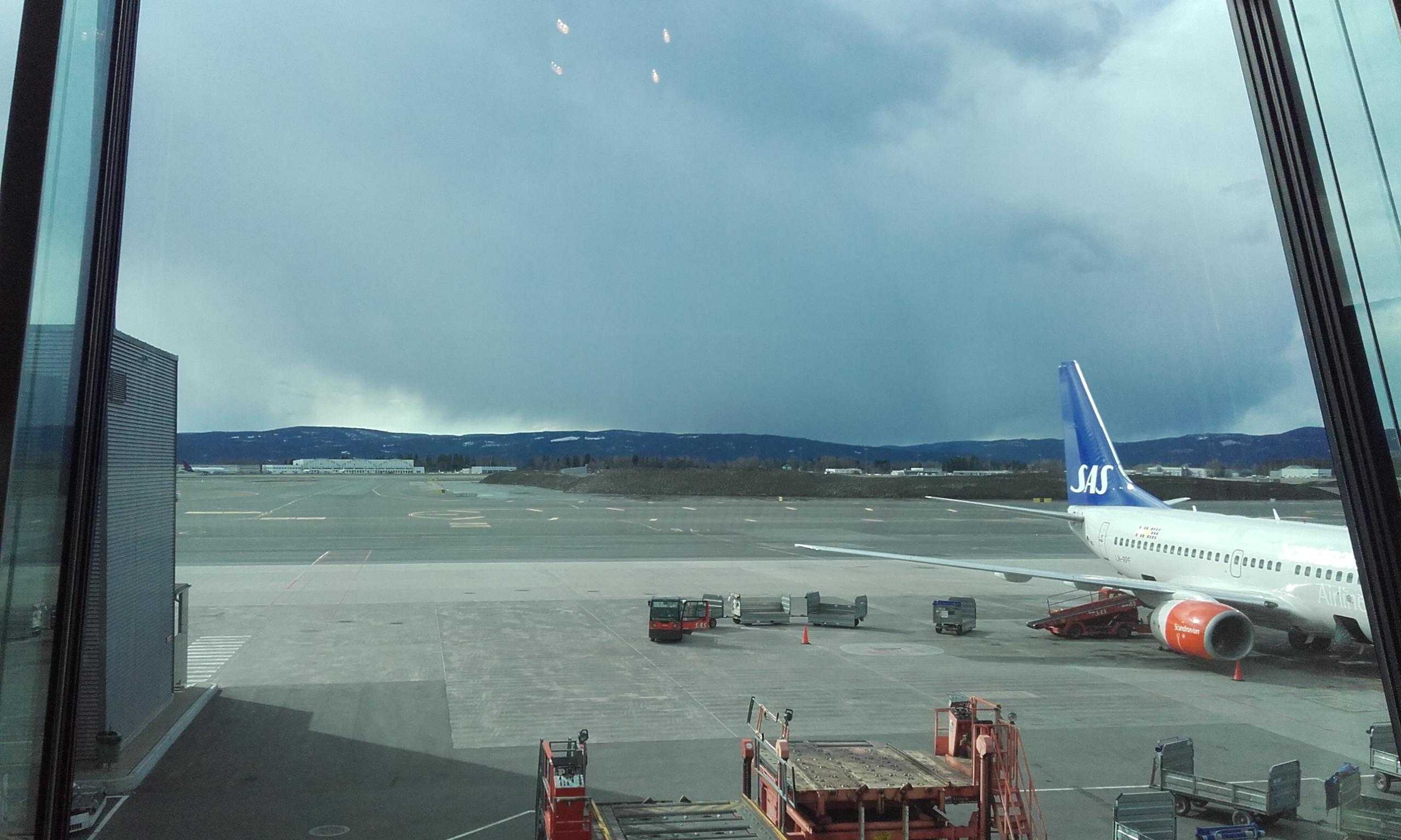 Esperando en el aeropuerto de Oslo