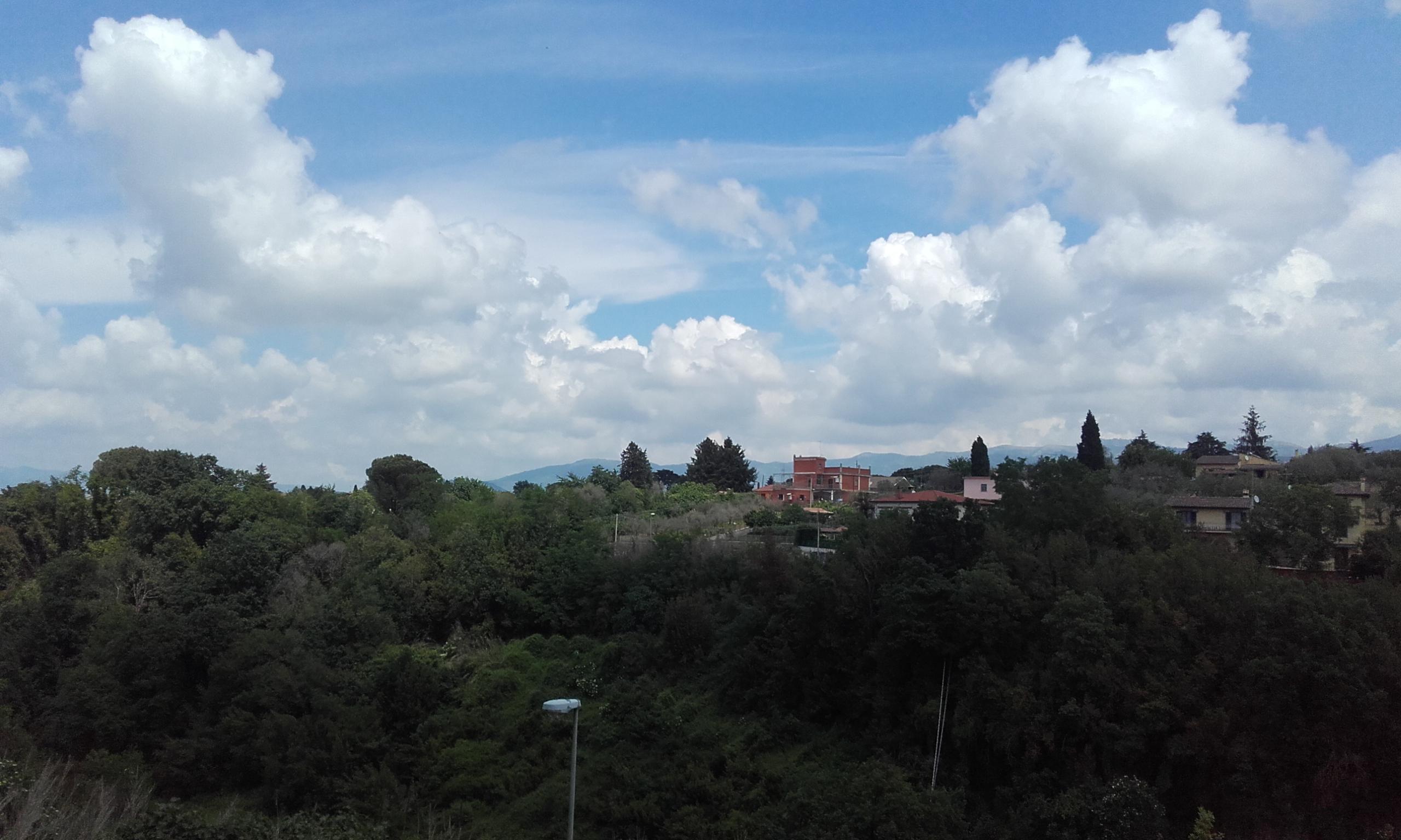 Vistas a los pueblos de montaña desde el mirador