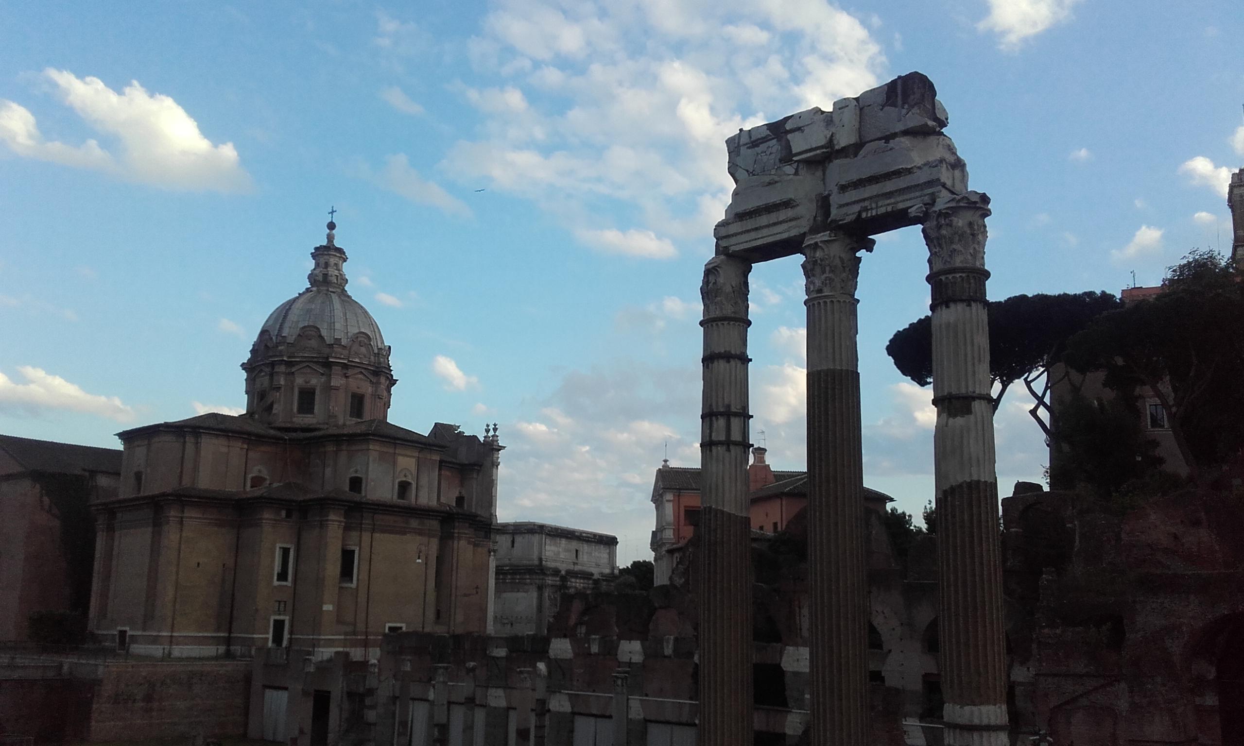 Últimos restos del Templo de Venus Genetrix