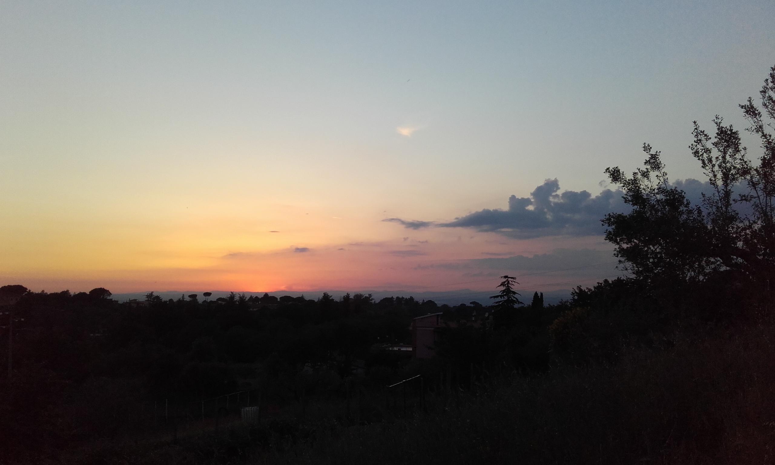 Anochecer desde la granja de Pantasema