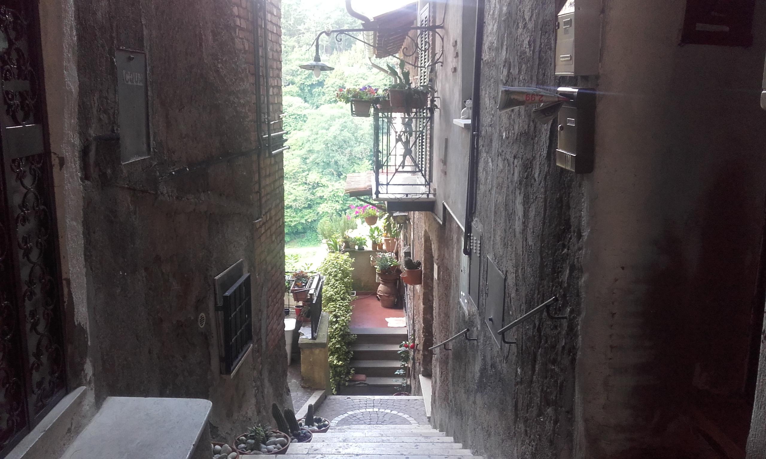 Las estrechas callejuelas de Zagarolo