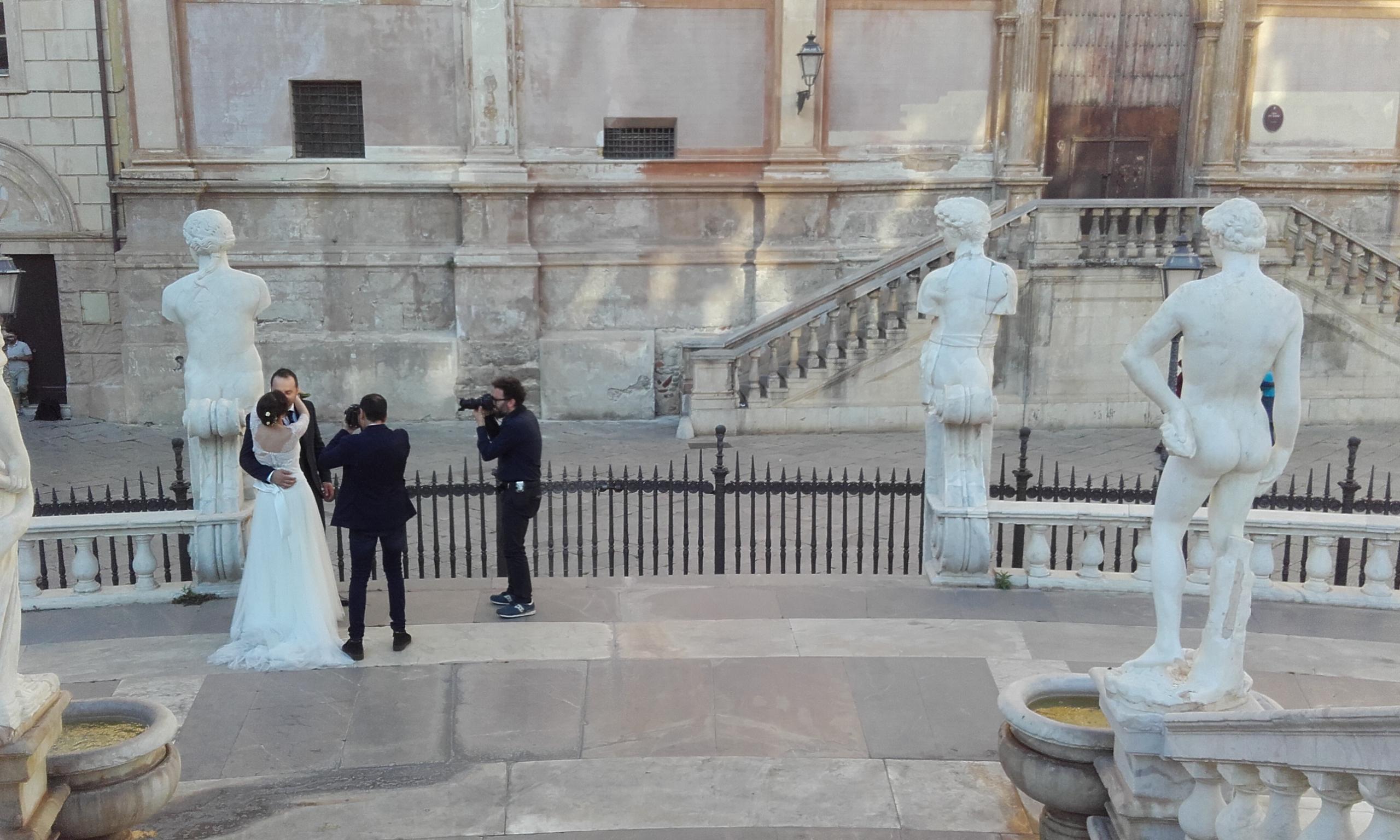 Reportaje de boda en la Fontana delle Vergogne