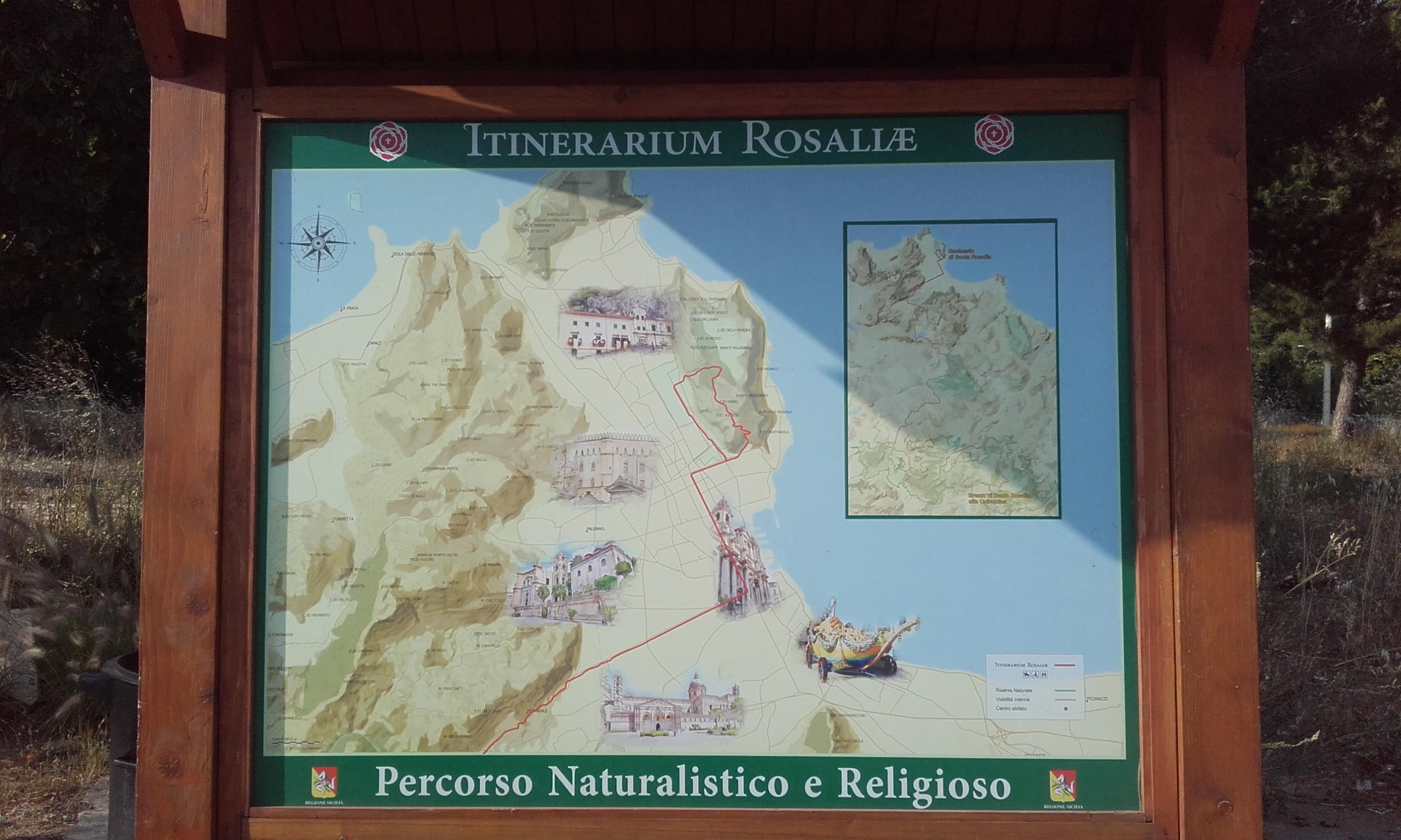 Inicio de la ruta por el Monte Pellegrino