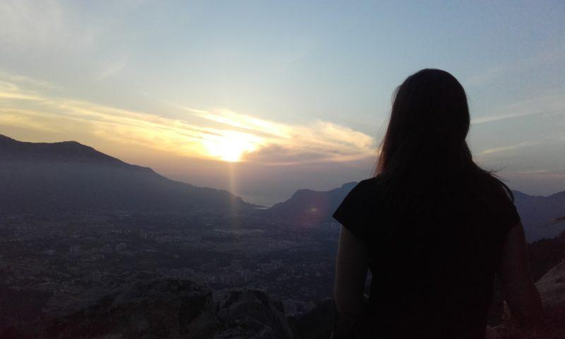 Anochecer desde el Monte Pellegrino