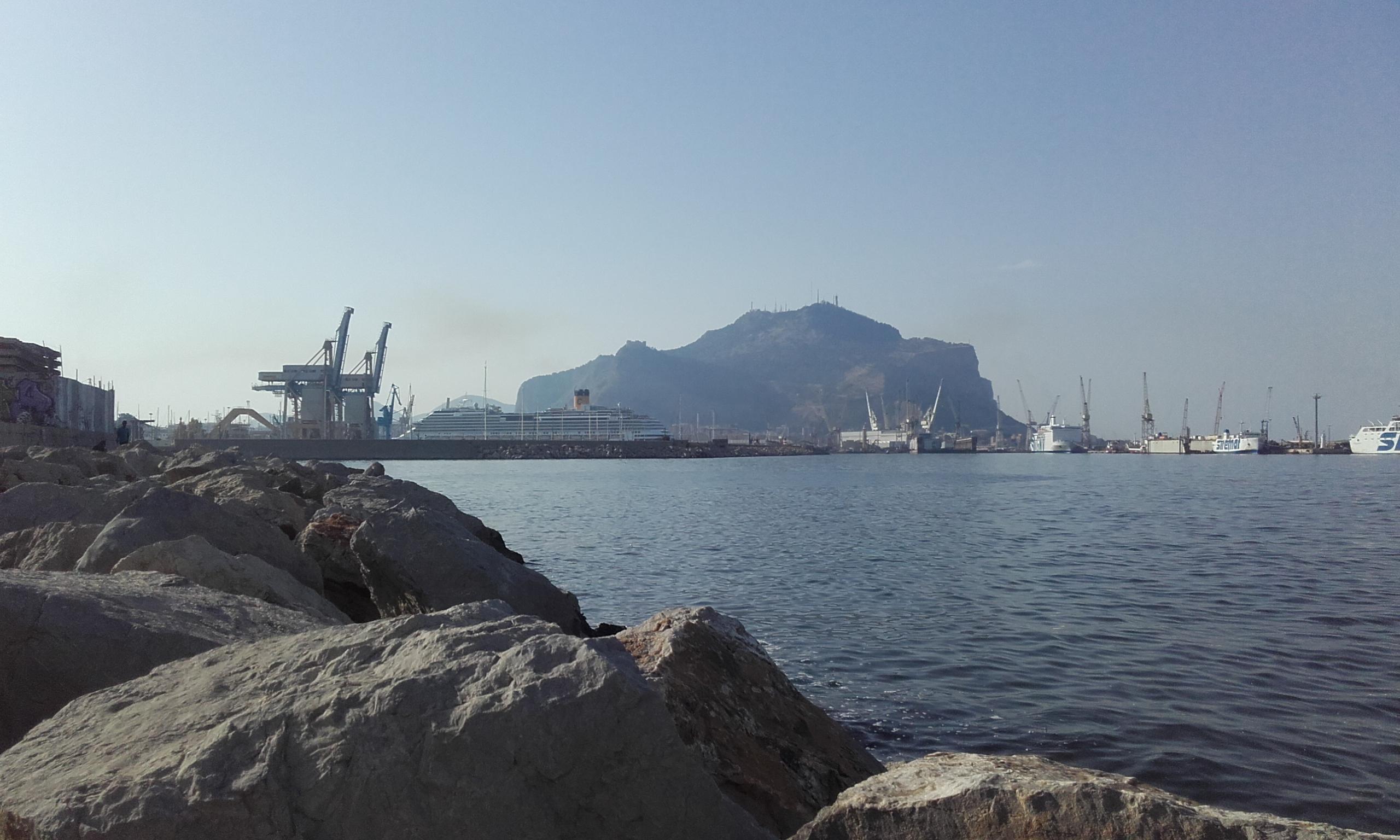 De relax en el puerto de Palermo