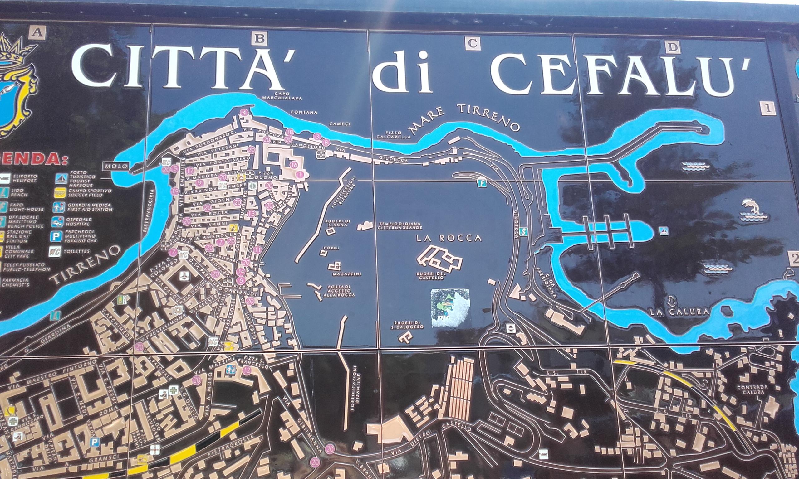 Mapa de la ciudad de Cefalú