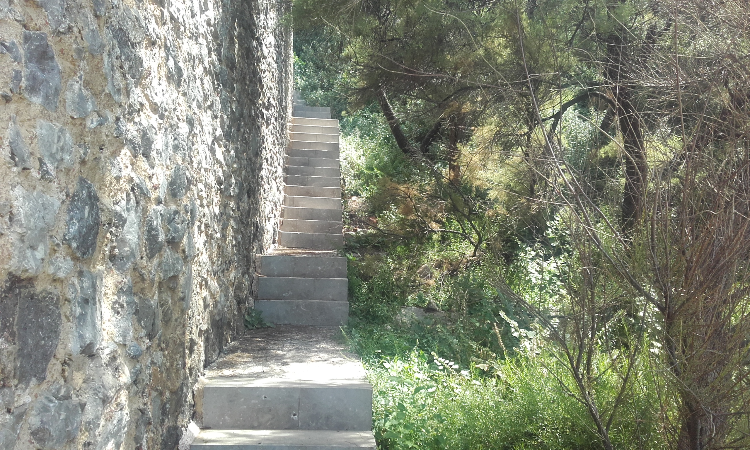 Escaleras para subir al faro