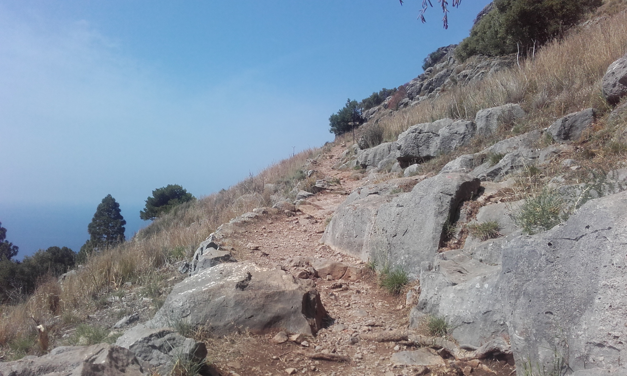 El sendero hacia el castillo