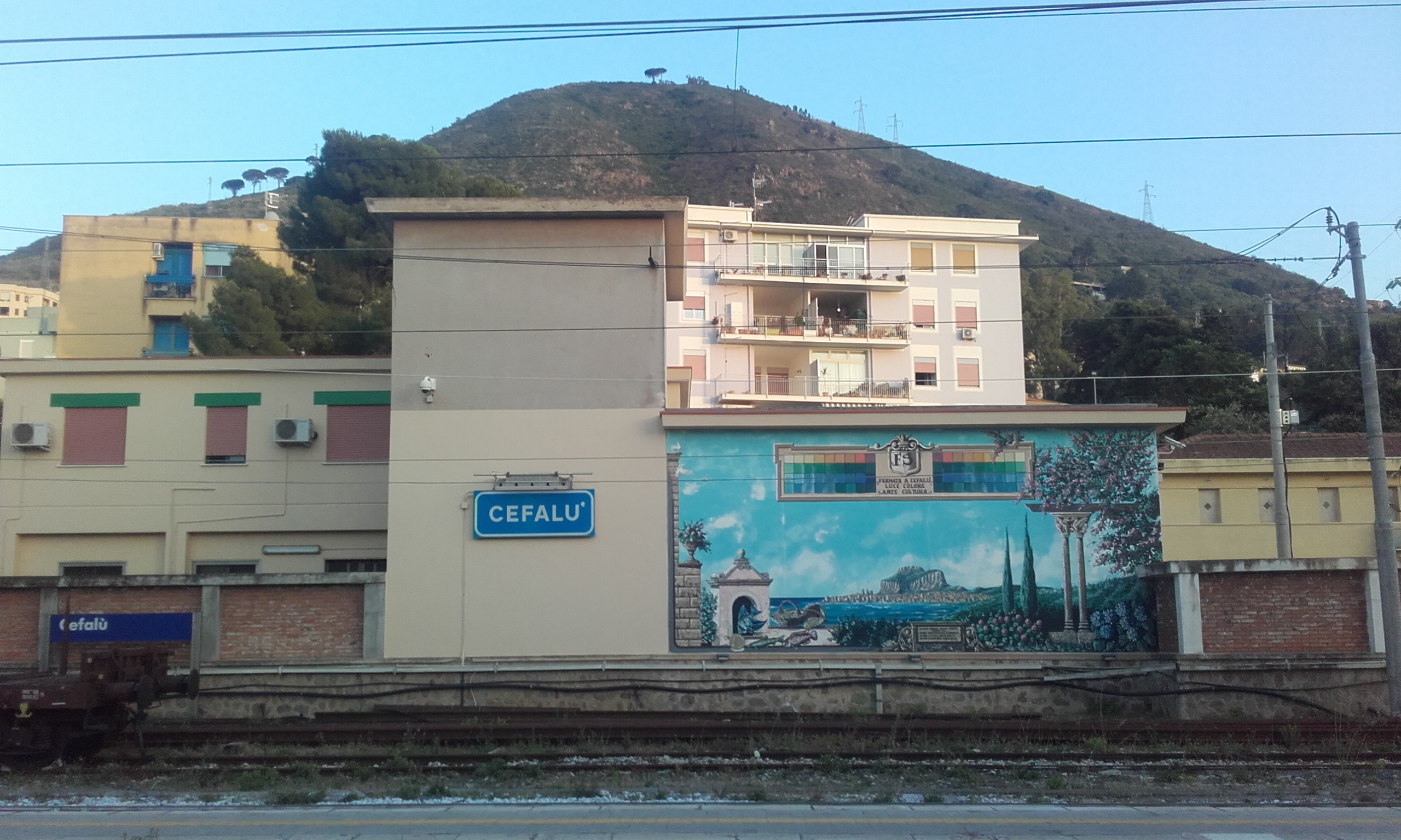 Grafitti en la estación de trenes
