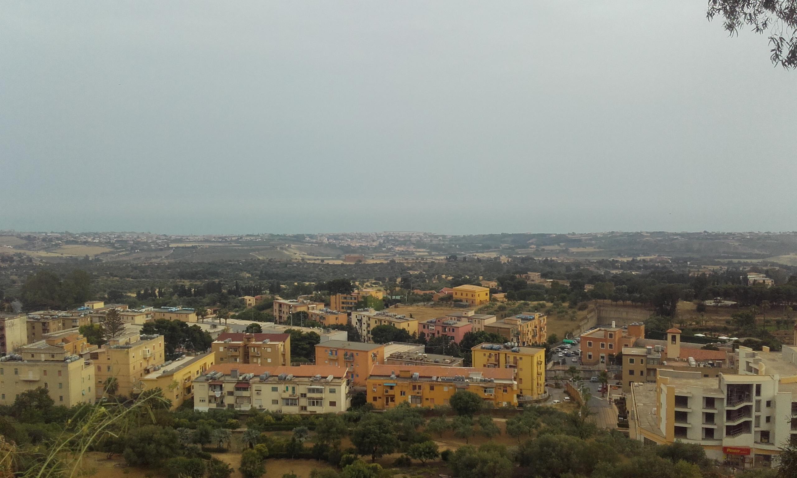 Vistas de la parte baja de Agrigento
