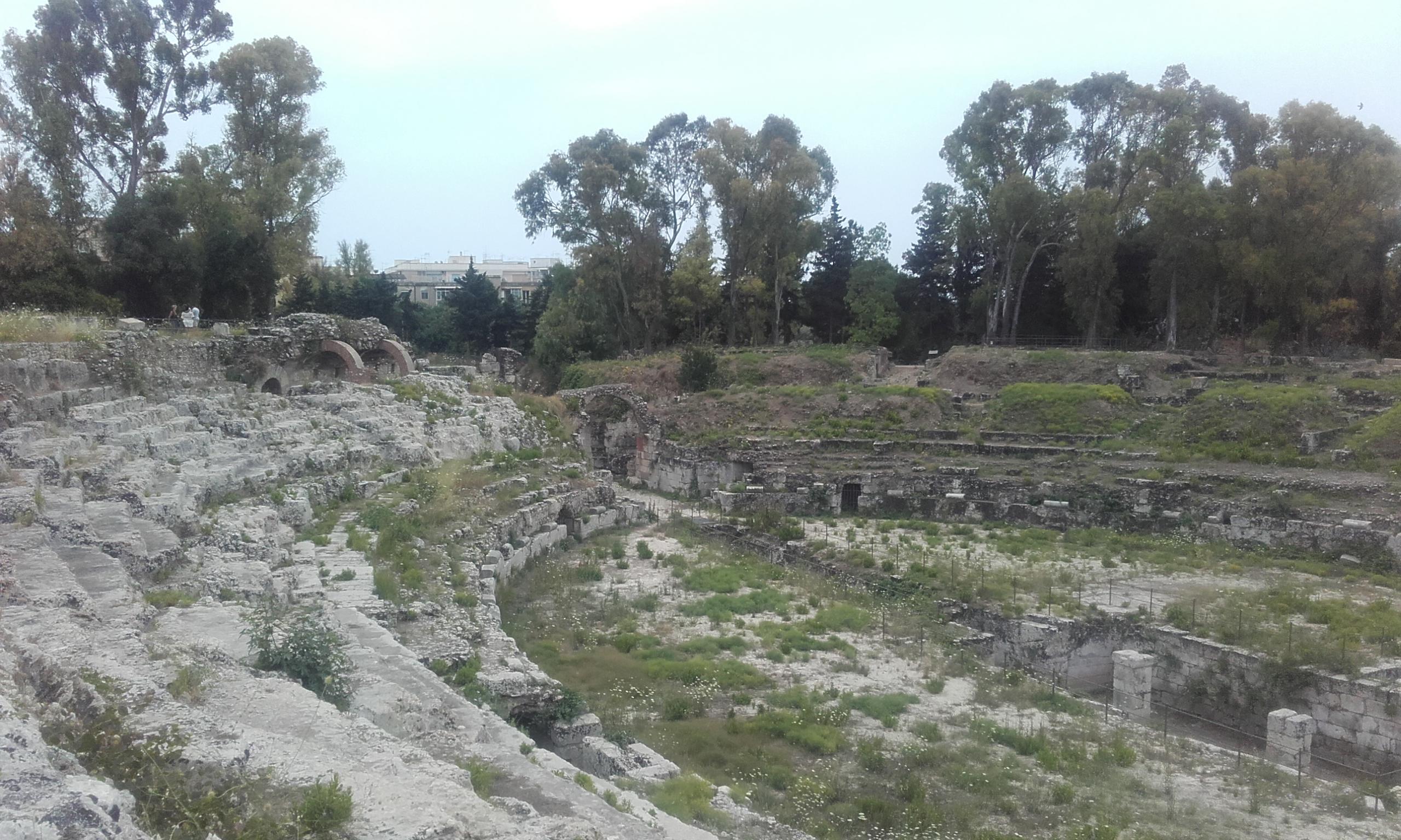 Gradas del anfiteatro romano