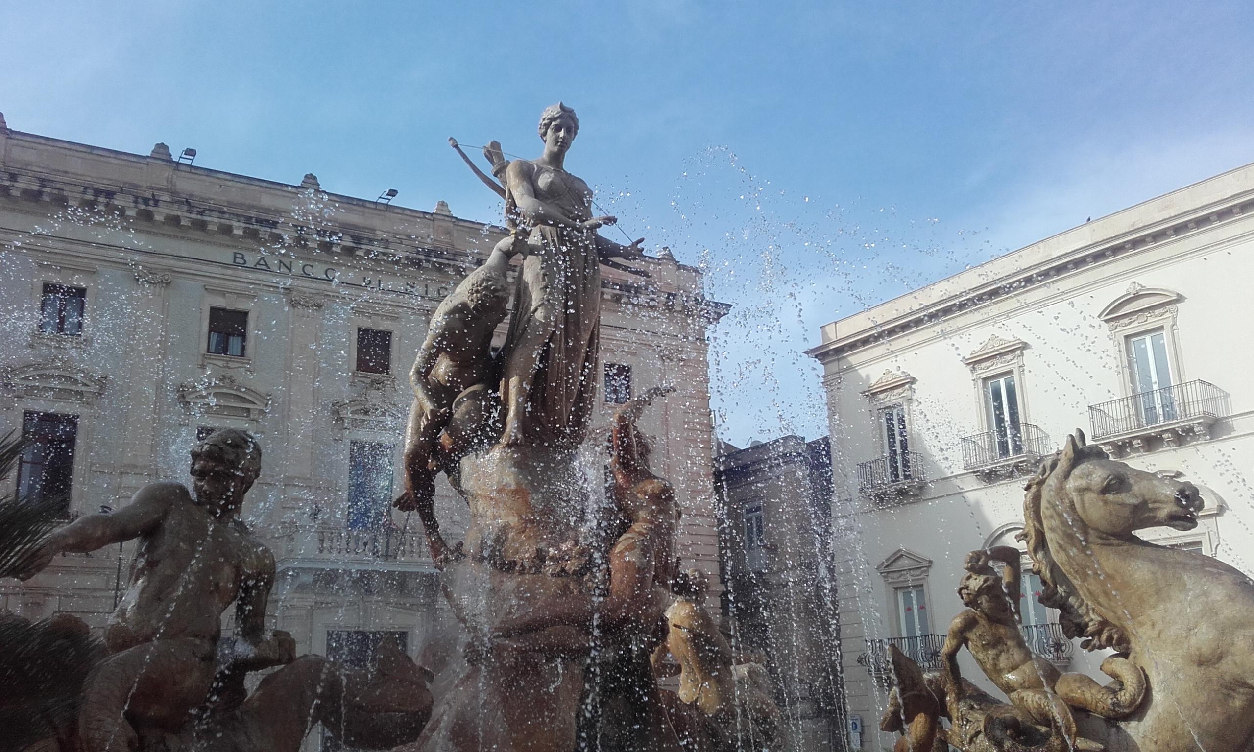 Fuente dedicada a la diosa Artemisa