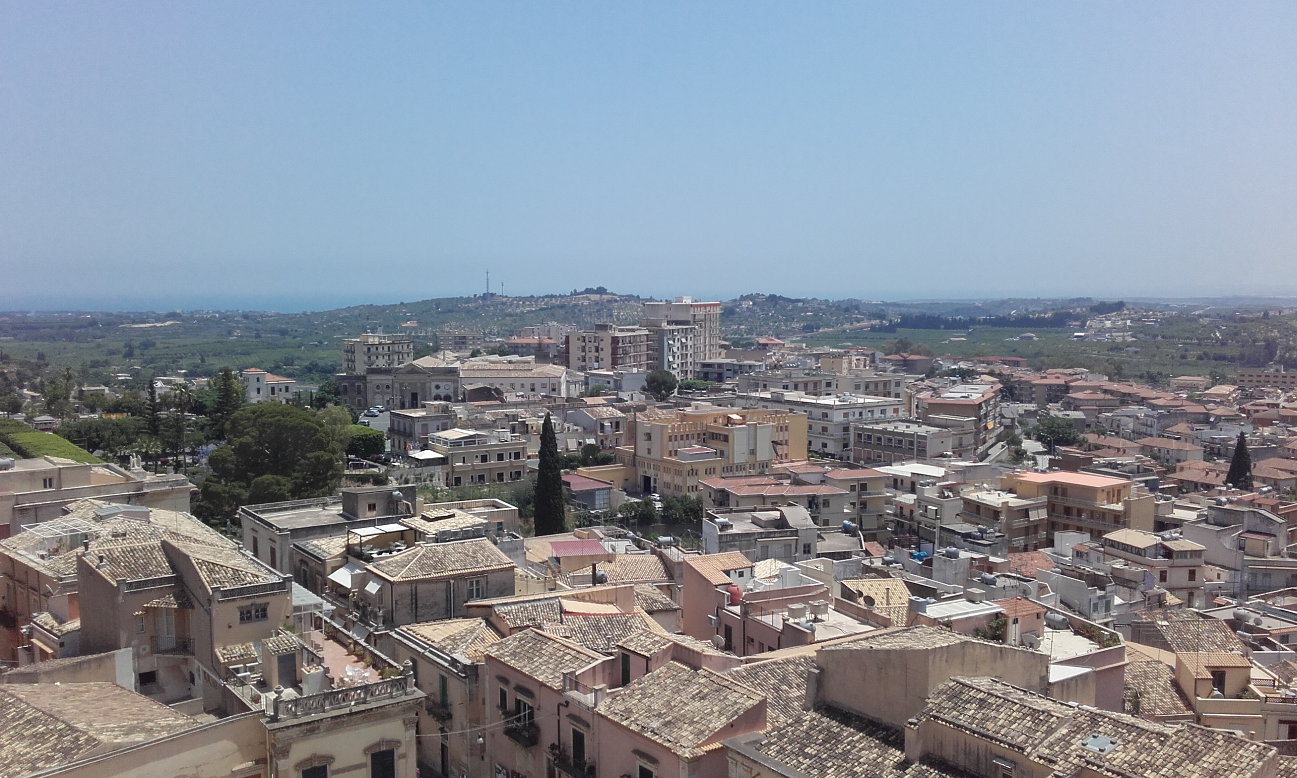 Vistas de la ciudad de Noto desde la Basílica del Santo Salvatore