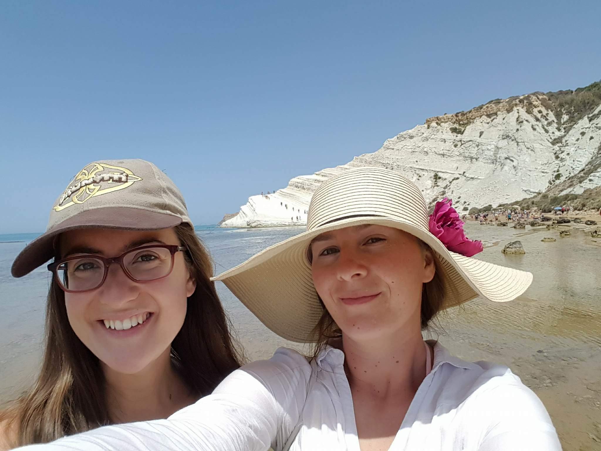 Ivana y yo en Scala dei Turchi