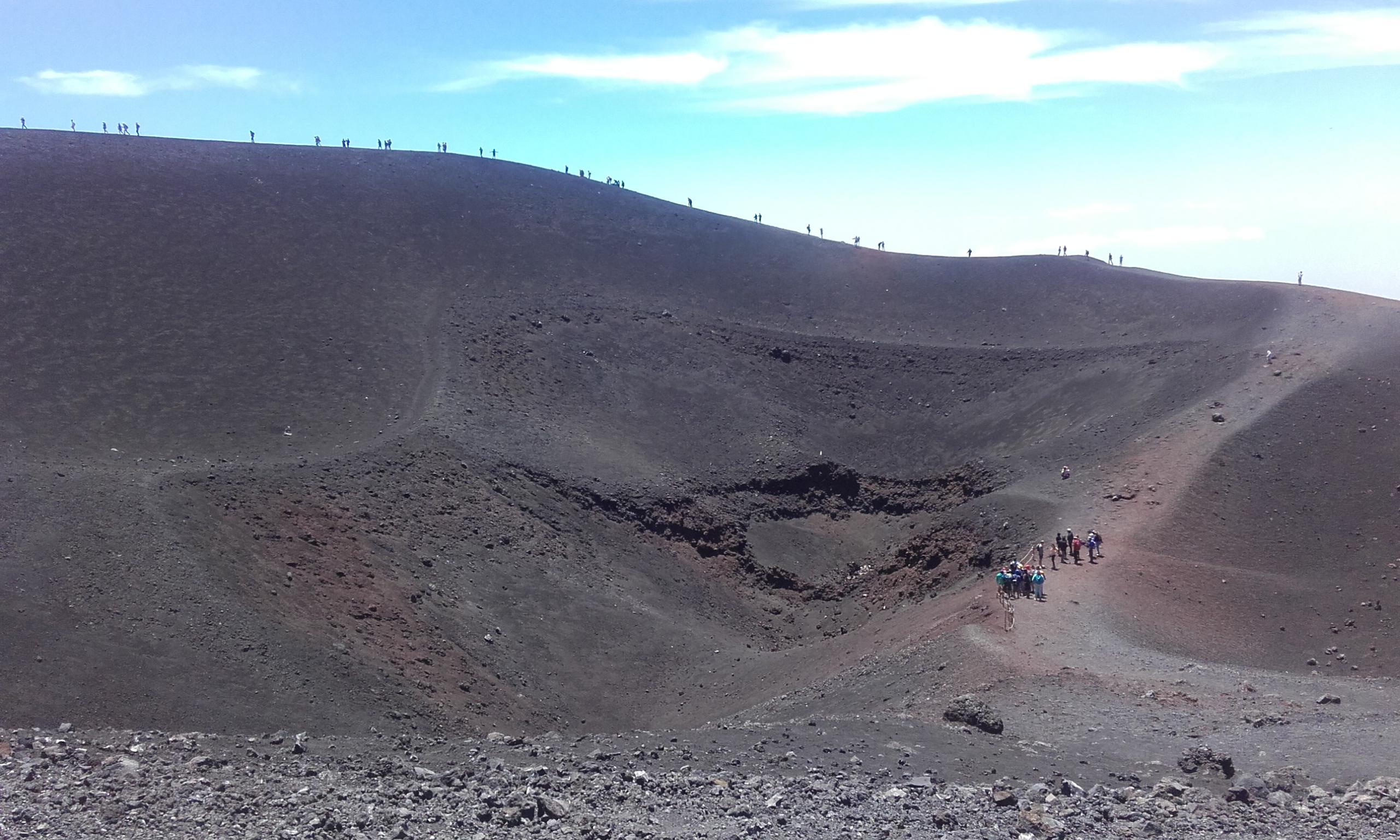 Primer cráter de la Torre del Filósofo