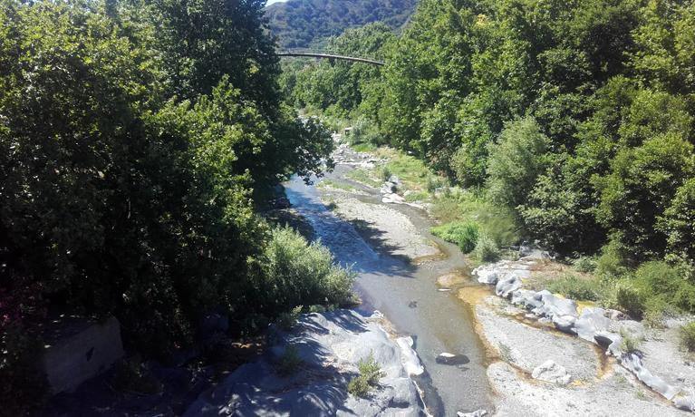 El río Alcántara desde el puente