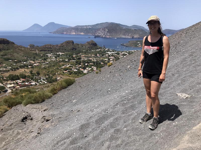 Vistas de las Islas Eolias en la subida al volcán