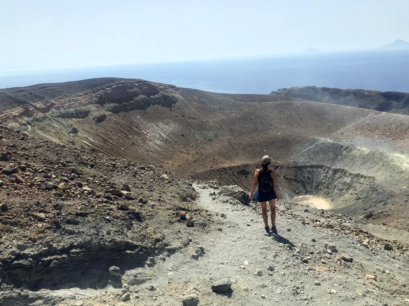 Vistas del Gran Cráter desde el lado contrario