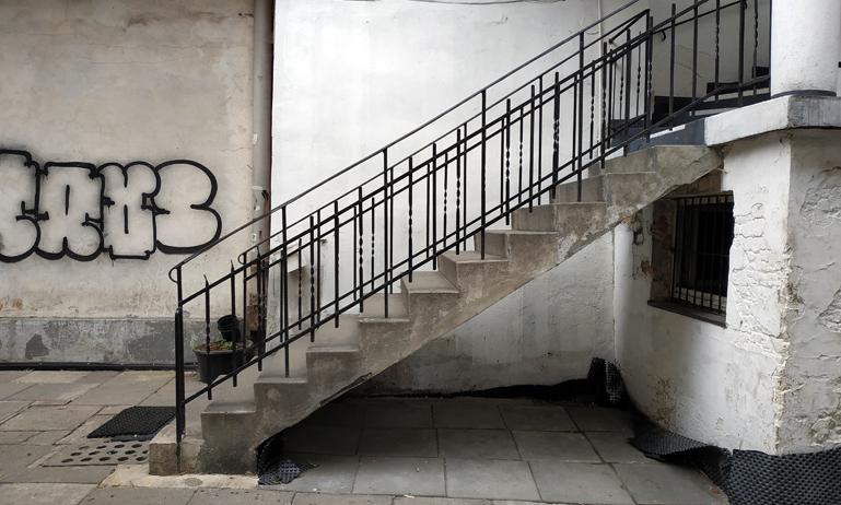 Escaleras donde se rodó una escena de La Lista de Schindler, entre las calles Meiselsa y Jozefa.