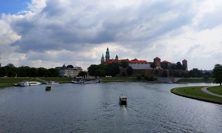 Atravesando el río Vístula para ir a Zakrzówek