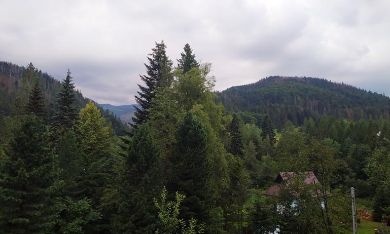 Las montañas Tatras desde el hostal