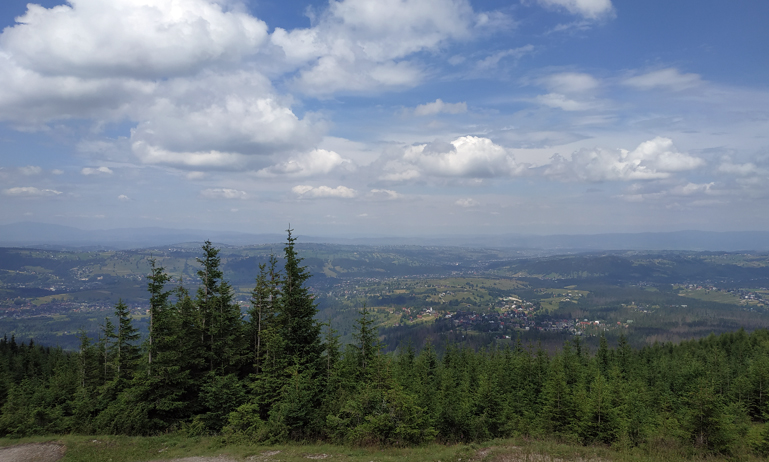 Vistas de la ciudad desde Wielki Kopieniec