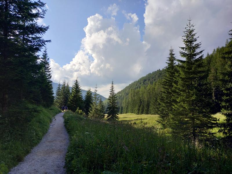 La primera parte del trail, antes de comenzar el descenso por las rocas