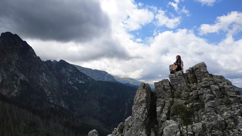 Desde lo alto de la cima de Sarnia Skała