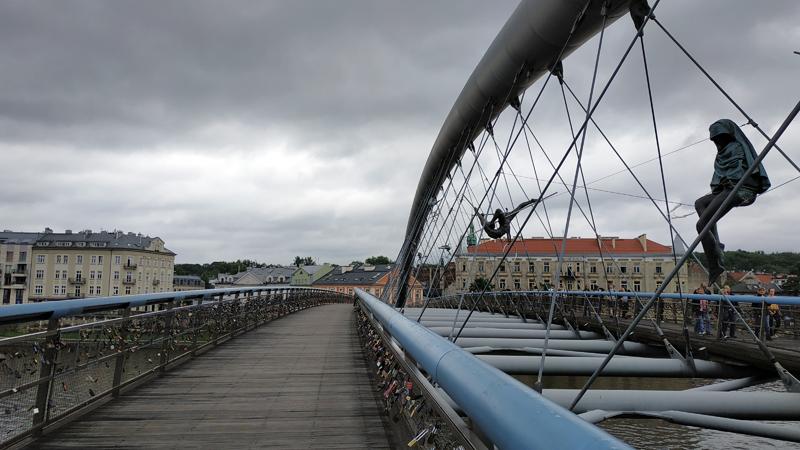 Puente Kładka Ojca Bernatka, tras finalizar el recorrido por Kazimierz