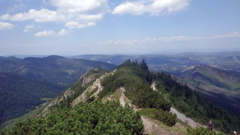 Vistas desde el trail azul a Przełęcz między Kopami
