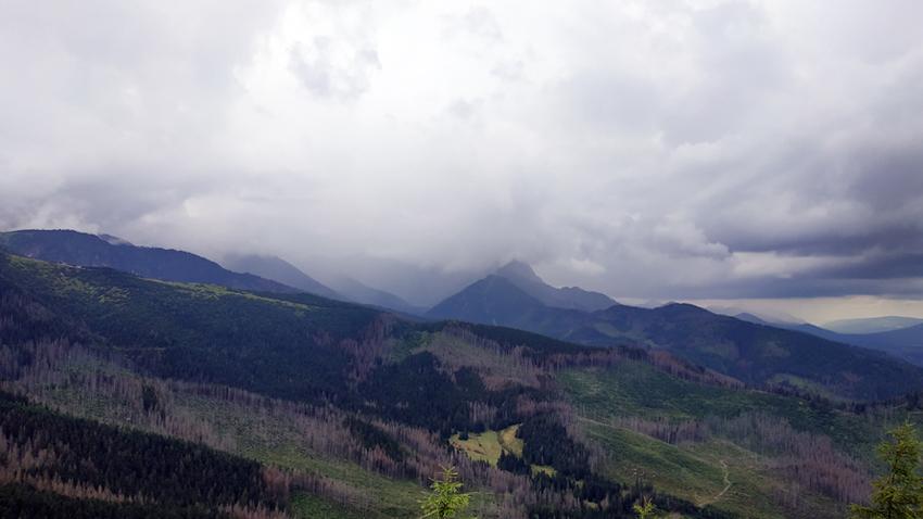 Vistas desde lo alto de Wielki Kopieniec