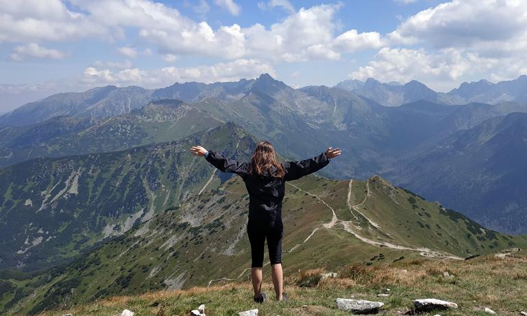 Ruta de Giewont y la frontera con Eslovaquia