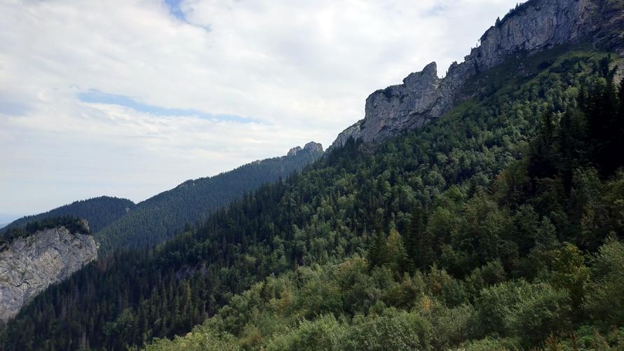 Vistas hacia arriba de la montaña. ¡Todavía nos quedaba un rato!