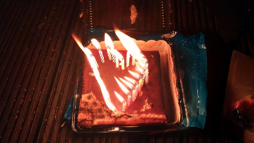 Mi improvisada tarta de cumpleaños :)