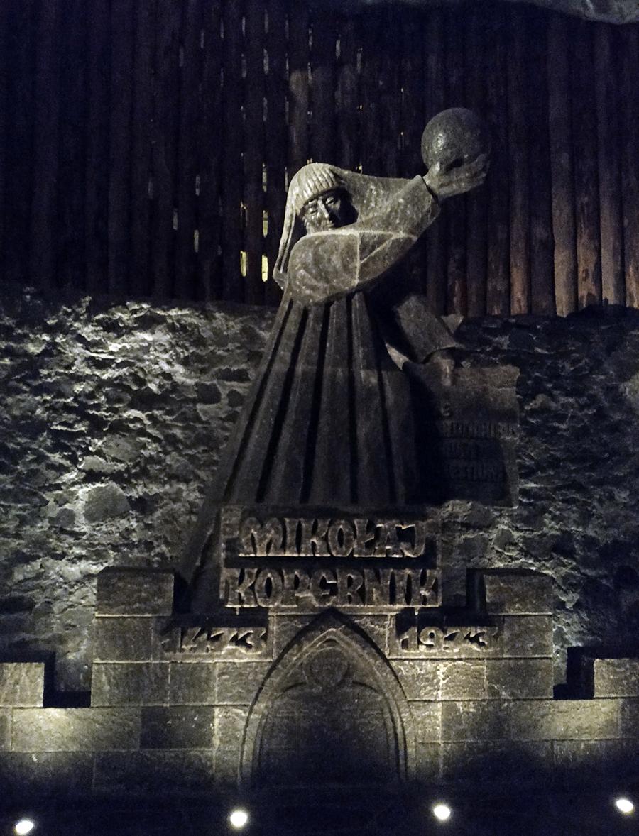 Escultura de sal en Wieliczka