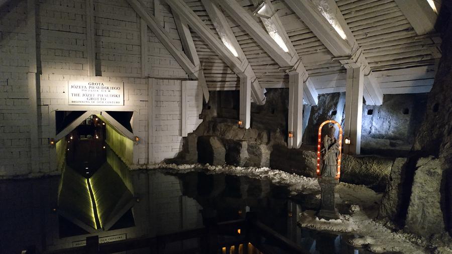La Józef Piłsudski Grotto, en las minas de sal de Wieliczka